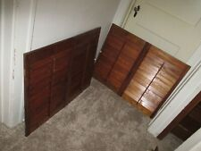 """Set of Vintage Wood Interior Louver Window Shutters 28"""" H x 18"""" W  Wood"""