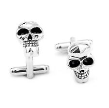 Quality Cufflinks Scull Cuff links silver Colour Skeleton French Shirt