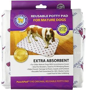 "PoochPad Extra Absorbent Reusable Potty Pad for Mature Dogs Med 20"" x 27"""