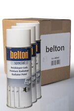 6 x Belton Pintura de aerosol del radiador blanco puro 0,4 l - calefacción para