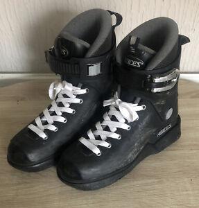 Roces Majestic 12 Classic Black M12 Inline Rollerblade Skates Size 8 UK Them USD