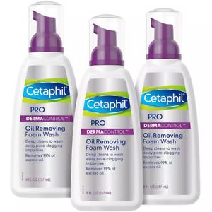 Cetaphil Pro Dermacontrol Oil Removing Foam Wash 6 oz. 3 Pack