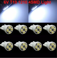 20X 6V Cold White T10 Wedge 4 SMD 1210 LED Light Bulbs W5W 2825 158 192 168 194