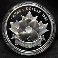 2004 Canada Special Edition Proof Silver Dollar - Poppy