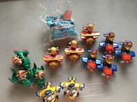 Vintage 1989 Walt Disney Tail Spin  McDonalds Happy Meal Toys  Lot Of 13