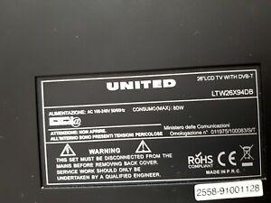 Scheda madre motherboard TV united LTW26X94DB 26 pollici funzionante al 100%.