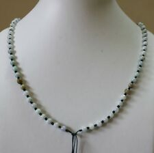 Hand Knotted String JADE Beads Necklace Thread Charm Pendant Jewelry Making #108
