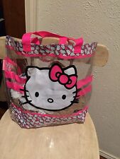 Cute Plastic Lg Hello Kitty Shou Bag Purse Tote Satch Coin Purse👝👠