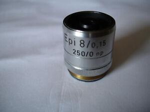 Reichert Mikroskop Objektiv für (Auflicht) Epi 8x/0,15  250/0 np