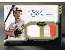 Trey Mancini 2018 Topps Tier One Dual Relic AUTO Autograph PATCH SP 04/25