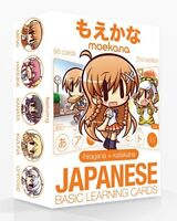 Moekana 2nd edition 56 learning cards Japanese words Hiragana Katakana Culture
