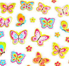 Pink Butterfly Stickers childrens card making decoration labels for kids PVC09