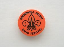 VINTAGE SOUNDWELL SCOUT BAND FESTIVAL THE SCOUTS PIN BADGE BUTTON