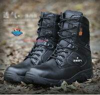 Mens Outdoor Waterproof Tactical Boot Army Combat Military Climbing Desert Shoes