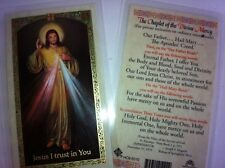 HOLY PRAYER CARDS FOR DIVINE MERCY SET OF 2 IN ENGLISH WITH FREE SHIP IN US!