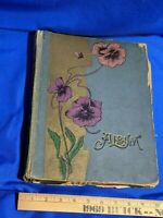 Dated 1904 Scrapbook Photo Album Art Christian History Catholic VTG Antique Card