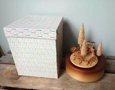 alte Erzgebirge Spieluhr Spieldose aus Holz / im Original Karton