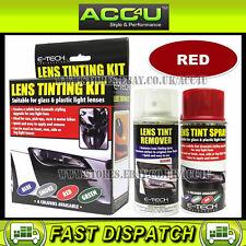 E-Tech Car Glass & Plastic Rear Tail Lamp Light Lens RED Tinting Tint Spray Kit