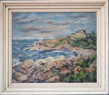 "Joseph Floch  (1895 - 1977) New York/Austria Listed Artist Oil ""Coast Scene"""