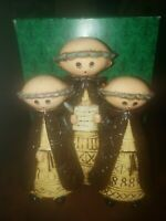 Vintage Religious CHOIR BOYS  Chalkware Set -  Handcrafted in Japan