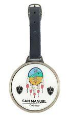 San Manuel Casino Étiquette de Bagage Avec Réglable Cuir Bracelet Neuf