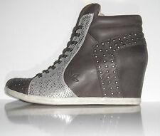 New  Koolaburra Women Kenny Wedge Leather Fashion Sneaker sz 9M