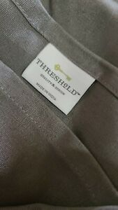 Threshold Table Cloth 60x120 Grey Oblong Tablecoth Seat 10-12
