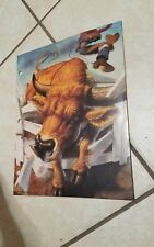 Rare 1994 Vintage Mead Folders - No Rules - Animal Sports Design bull riding