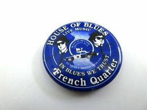 House of Blues Live Music New Orleans French Quarter Metal Button Pin Badge