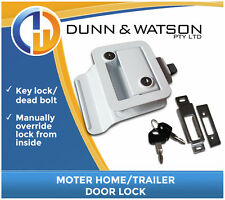 White Motorhome Paddle Handle Lock / Handle / Latch (Trailer Canopy Caravan )