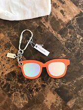 COACH Hologram Leather Sunglasses Bag Purse Charm Keychain F54920 Orange NEW NWT