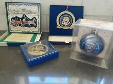 Dc panoramic + White House Historical Assoc ~ Lot of 4 Christmas Ornaments ~Nib