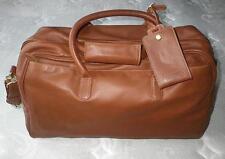 COACH Vtg British Tan Leather LG Cabin Duffle Carry On Travel Luggage Gym Bag