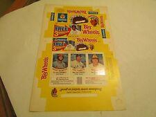 Hostess Big Wheels Baseball Trading Cards Box (McBride, Chambliss, Metzger)