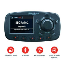In-Car DAB Digital FM Radio Adapter Bluetooth, Handsfree Calling Kit USB Port