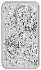 2020 Australia Dragon Rectangular 1 oz Silver $1 Coin Gem Bu Sku61107