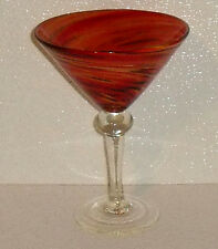 Red Twist Martini Glass By Pier 1 Imports Hand Blown Art Glass