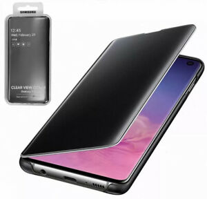 Samsung Galaxy S10 Clear View Phone Case Black (Official) Genuine