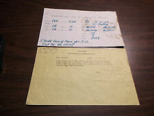 MARCH 1968 B&LE BESSEMER & LAKE ERIE RAILROAD ALBION, PA TELEGRAM TRAIN ORDER