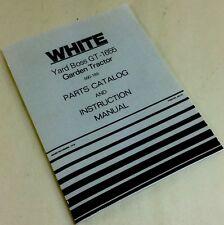 WHITE YARD BOSS GT-1655 GARDEN TRACTOR PARTS CATALOG & OWNERS INSTRUCTION MANUAL