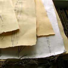 Scrap art craft handmade paper 22x31 sheets green gifts natural banana fiber
