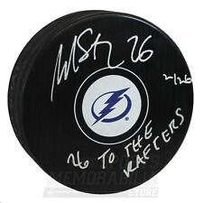 Martin St. Louis Tampa Bay Lightning Sign Autograph 26 TO THE RAFTERS Puck LE
