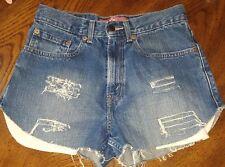 "Levi's 569 Womens Custom Distressed Womens Shorts Waist 28"" Strauss designer den"