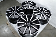 "18"" Wheels Ford Mustang Accord Civic CrV Pilot Is250 Camry Rav4 Black Rims 5 Lug"