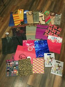 Lot of 25 Present Gift Bags Various Sizes Designs 10 Wine or Tall Size New and U