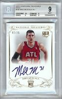 Mike Muscala 2013-14 National Treasures RC Gold Graded BGS 9 #146 02/25 Lakers