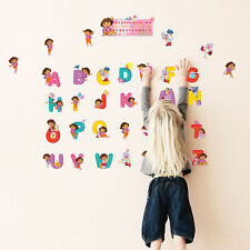 Dora Cute Alphabet Wall Kid Sticker 26 Teaching TOOL English Letters Art Decals