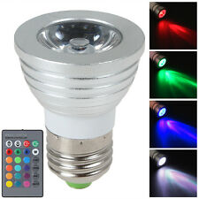 3W E27 Color LED RGB Magic Light Bulb 16 Colors Changing With Wireless Remote