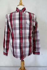 "WRANGLER Casual SHIRT Long-Sleeve Size L/16"" Red/Grey/White Check 297"