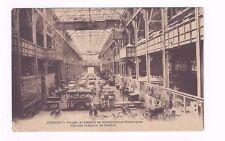 FRANCE Jeumont antique db sepia tone post card Construction of Electric Motors